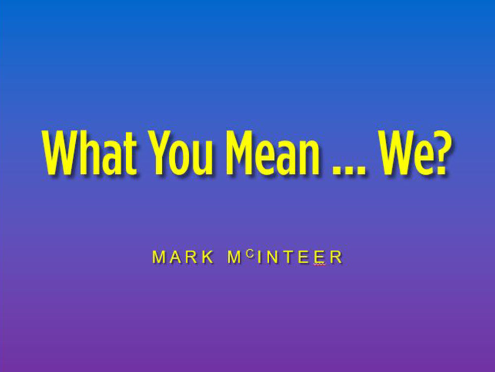 What You Mean... We? Image